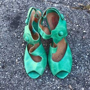 Miz Mooz green shoes